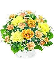 【10月の誕生花(オレンジバラ)】オレンジバラのアレンジメント ya10-511999 花キューピット 花 ギフト 誕生日 お祝い 記念日 お礼