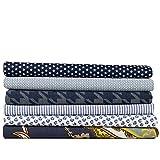 Paquete de tela azul oscuro (6 x aprox. 50 cm x 75 cm) 100% algodón – Precio válido para 6 telas