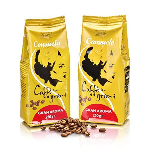 Consuelo Gran Aroma - Italienischer Kaffee - ganze Bohnen, 2 x 250 g