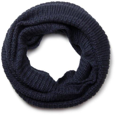 styleBREAKER Feinstrick Schal, einfarbiger Loop Schlauchschal, Feinripp Strickschal, Loopschal, Unisex 01018112, Farbe:Midnight-Blue