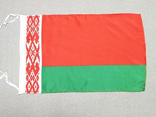 AZ FLAG Flagge WEIßRUSSLAND 45x30cm mit Kordel - WEIßRUSSISCHE Fahne 30 x 45 cm - flaggen Top Qualität