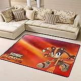 Zmacdk Alfombra de camping Sonic Force antideslizante para niños, sala de juegos, dormitorio, 6 x 7 pies (180 cm x G210 cm), Sonic Tails (personaje) nudillos