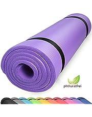 diMio Comfort-gymnastiekmat yogamat in 185x60x1cm, 185x60x1,5cm, 185x90x1,5cm, 200x100x2 met draagriem ftalaatvrij + SGS-getest