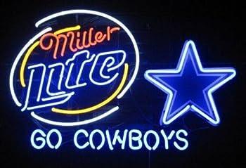 miller lite dallas cowboys neon sign