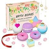 Badebomben Geschenkset, Winzwon 7 Stück Badekugeln Luxuriöses Geschenk, Bath Bomb für Frauen,...
