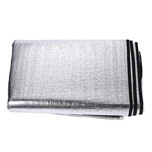 KIELEOC Picnic Blankets 200 * 150cm Camping Mat Sleeping Pad Double-sided Waterproof Aluminum Foil Beach Camping Picnic Blanket Damp Proof (Color : 200X150cm Silver)