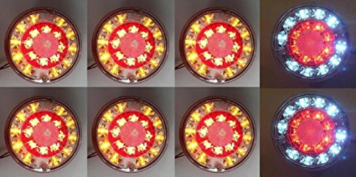 8 X 24 V LED Queue arrière Hamburger lumières Camion caravane Camper benne
