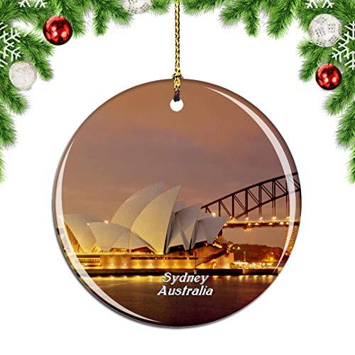 Weekino Australien Sydney Opera House Weihnachtsdekoration Christbaumkugel Hängender Weihnachtsbaum Anhänger Dekor City Travel Souvenir Collection Porzellan 2,85 Zoll