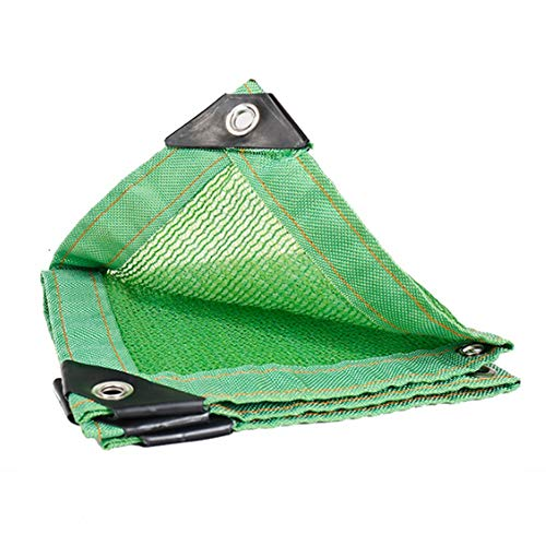 Chihen 85prozent Polyethylen Sonnenschutzmittel Schattenstoff Grün Anti-UV Benutzt for Pflanzendecke Balkon Gartenarbeit Terrasse Sonnenschutznetz HEAV-B (Color : Green, Size : 3x6m)
