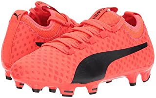 (プーマ) PUMA キッズサッカーシューズ?靴 evoPOWER Vigor 3D 3 FG (Little Kid/Big Kid) Fiery Coral/Puma Black/Toreador 5.5 Big Kid 24cm M [並行輸入品]
