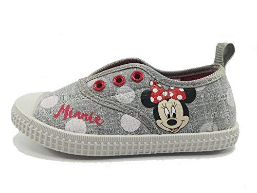 Disney Minnie Maus 2300002888 Mädchen Sneaker, Schuhe, Canvas, Grau (25)