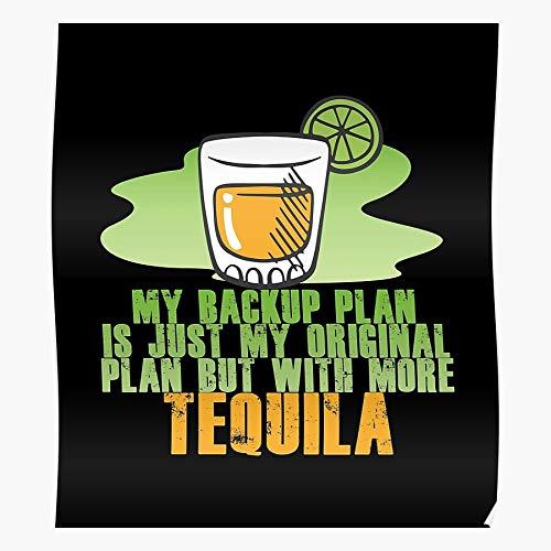 Póster con texto en inglés 'Alcohol Drink Gin Tequila', 'Alcohólico' de Mayo Tequilas Cinco De Bartender', para decoración del hogar, arte de la pared