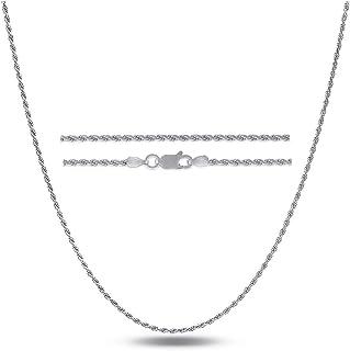 "Orabelle Jewelers Sterling Silver .925 Italian Diamond Cut Rope Chain 1.2MM 16""-24"", 925 Sterling Silver Braided Twist Nec..."