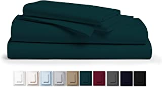 """Kemberly Home Collection 800 Thread Count 100% Pure Egyptian Cotton – Sateen Weave Premium Bed Sheets, 4- Piece Teal Queen- Size Luxury Sheet Set, Fits mattresses Upto 18"""" deep Pocket"""
