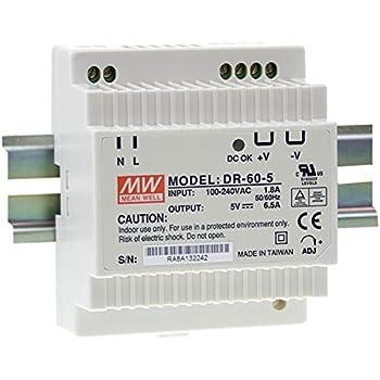 Hutschienen Netzteil 15W 5V 3A ; MeanWell MDR-20-5 ; Hutschienennetzteil