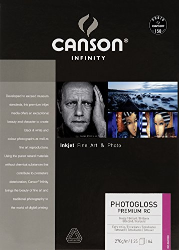 Caja A4, 25 Hojas, Canson Infinity PhotoGloss Premium RC 270g