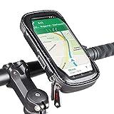 ROTTO スマホホルダー 自転車 バイク 携帯ホルダー マウント 撥水 防塵 360度回転 各種スマホ対応