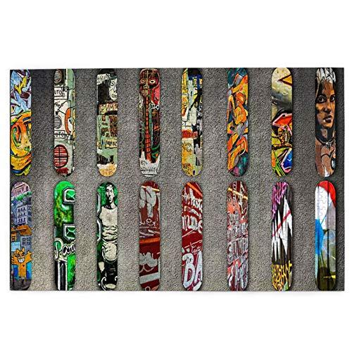 Rompecabezas de 1000 Piezas,Rompecabezas de imágenes,Fondo de Pantalla Color Skateboard,Juguetes Puzzle for Adultos niños Interesante Juego Juguete Decoración para El Hogar