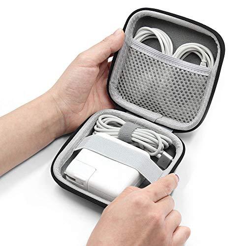 BOONA Apple strömadapter exklusiv väska hårt skal bärbar MacBook Air/Pro laddare fodral för laptop MacBook-tillbehör, kablar, svart