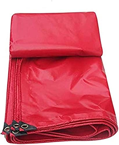 Sgfccyl Bache Rouge en Plastique Enduit de Tissu de Toit résistant à la Pluie célébrations auvent Couvert de Toile imperméable Couverture de Poncho crème Solaire crème Solaire (Taille   8  10m)