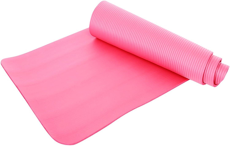 Yoga mats, Extended Thicken Fitness mat Beginner Tasteless Non-Slip Yoga mat JSSFQK (color    1)