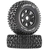 Duratrax Lockup SC Mounted Soft Tires, Black 17mm Hex (2), DTXC5274