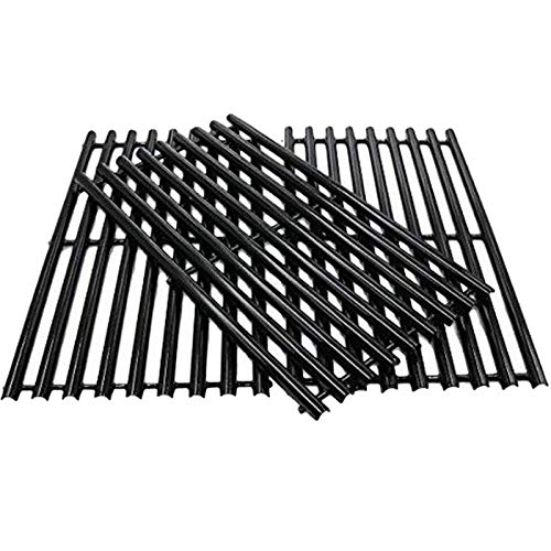 WELL GRILL 43CM Gusseisen Grillrost Gusseisenrost BBQ Grillersatzteile für Master Chef, Charbroil 463420507, 463420509, Kenmore 80008076, Kenmore Sears 463420507 (3er-Pack)