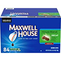 Maxwell House Decaf House Blend Medium Roast K-Cup Coffee Pods (84 Pods)