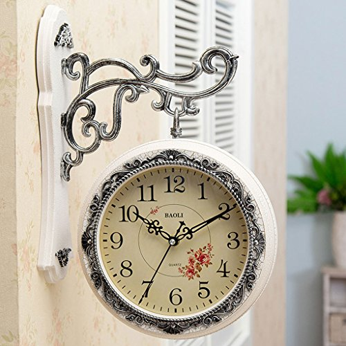 Meters Horloges murales recto-verso Salle de séjour créative Horloges mous élégantes