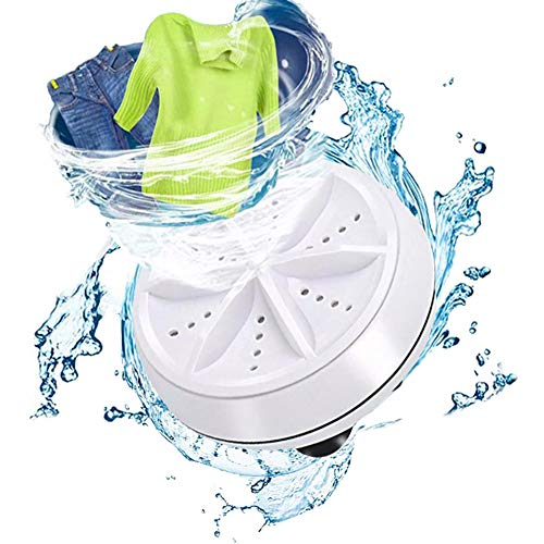 Price comparison product image Mini Washing Machine Portable Ultrasonic Turbine Washer, Portable Washing Machine with USB for Travel Business Trip or College Rooms