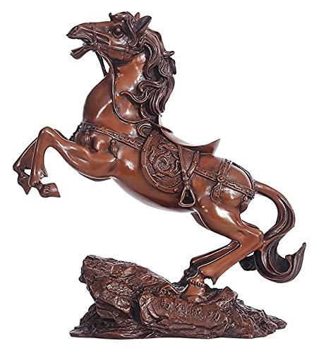 WQQLQX Statue Antike Bronze Pferd Dekorationen Lima Statue Tier Skulptur Handwerk Modell Figuren Home Decoration Desk Art Collection Geschenke Skulpturen