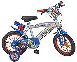 Pik&Roll Avengers Velo Enfant 14' Mixte. Gris Bicicleta Pulgadas, Niño, Variado, 101 x 50 x 68