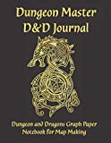"Dungeon Master D&D Journal: Dungeon and Dragons Graph Paper Notebook for Dungeon and Dragons Map Making | Large 8.5"" x 11"" Notebook for 1 and 2 page ... Black and Gold Dragon Cover 