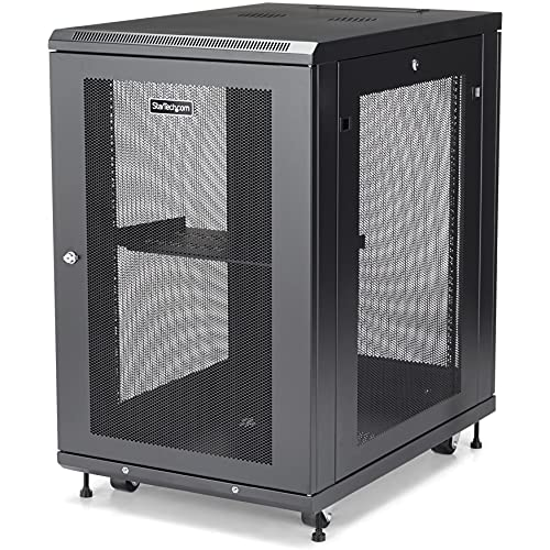 StarTech.com 18U Server Rack Cabinet - 4-Post Adjustable Depth (2' to...