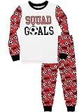Harry Bear Pijamas de Manga Larga para niños Fútbol Ajuste Ceñido Rojo 7-8 Años