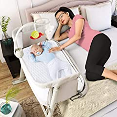 FOR BABY NEWBORNS UP TO 6 MONTHS – Our baby bedside sleeper is the ideal baby furniture for your nursery needs. With a strong, sturdy aluminum frame and comfy, wide base, our bedside basinet is easy to assemble and meets all Consumer Product Safety R...