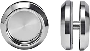 YES Time Stainless Steel Shower Glass Door Sliding Knob Bathroom Round Back-to-Back Handle Pull Pack of 2