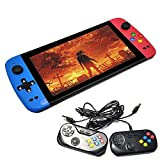 LIHENG 7-inch HD Screen Handheld Video Games Console Dual Joystick,Built in 4500 Game,Support for PS1, GBA, FC, SFC, MD, DOS, GB, SMS, GBC, N64 Arcade Games, 2 Controllers
