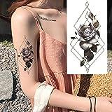 tzxdbh 5Pcs-S/Set Plant Elves Small Full Flower Arm Etiquetas Engomadas Impermeables del Tatuaje Fox Owl para Mujeres Hombres Body Art En Tatuajes De En Xqb08