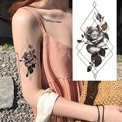 tzxdbh 3Pcs-Full Flower Arm Waterproof Tattoo Stick Lady Butterfly Art Body Art 3Pcs-