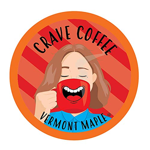 Crave Flavored Coffee Pods, Compatible with 2.0 K-Cup Brewers, Vermont Maple