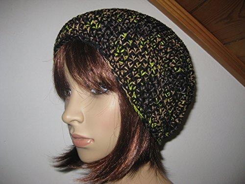 Mütze mit Mohair, Beanie im Boshi Style, Häkelmütze