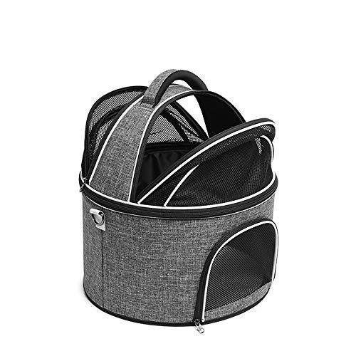 GXHGRASS schoudertas voor huisdieren, rond, draagbaar, ademend, voor huisdieren tot 7 kg