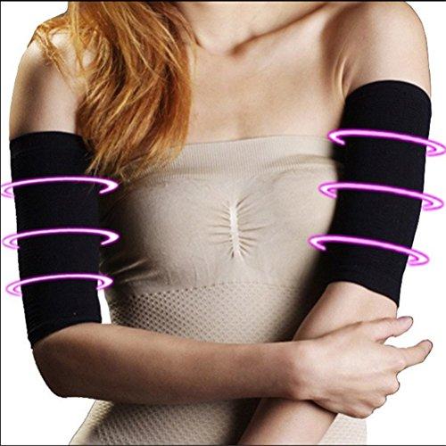 KAIMENG Arm Ehemalige Elastische Oberarm Former Ärmel für Sport Fitness Anti Cellulite (Schwarz) - 2