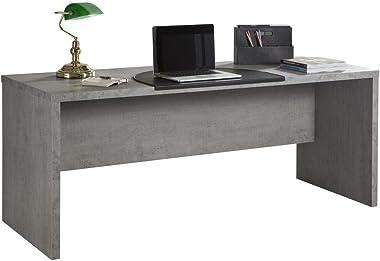 Composad Scrivania Ufficio Moderna Color Cemento, Legno, Unica
