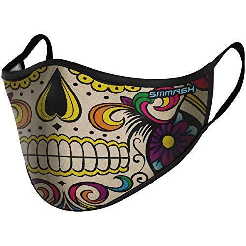 SMMASH Mundschutz Maske Wiederverwendbar, Hochwertiges Gesichtsmaske Waschbar, Multifunktional Trainingsmaske für Radfahren, Laufen, Staubschutzmaske für Damen, Herren, Größe S/M