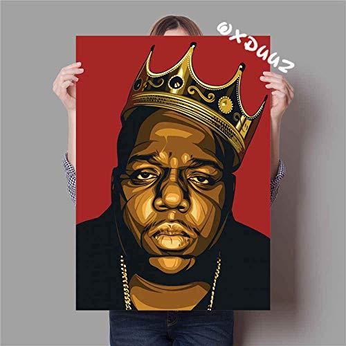 De bekende Amerikaanse Rapper Hip Hop The Notorious BIG familiewanddecoratie kunstposter hoogwaardig schildersdoek 60x90cm