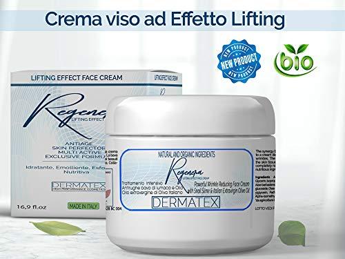 Crema viso Effetto Lifting Regenera di Dermatex 50 ML. Con Bava di Lumaca e Olio EVO. Perfetta per Viso Collo...