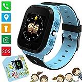 Kids Smart Watches Phone - 1.4'Montre à écran Tactile pour Enfants Phone Watch avec Appel SOS Voice Chat Camera Flash Alarm Jeux d'apprentissage Cadeaux Tchristmas pour garçons Filles 4-12 Ans (Bleu)