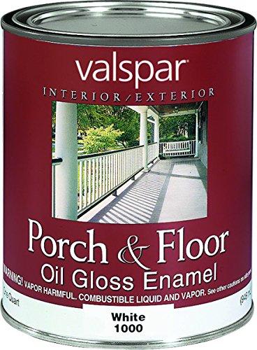 Valspar 27-1000 QT 1 Quart White Porch & Floor Oil Enamel Paint